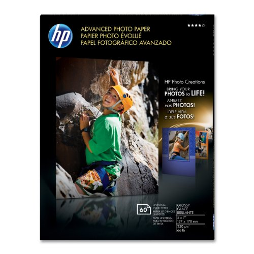 HP Advanced Photo Paper, Glossy 60 Sheets, 5 x 7 Inch