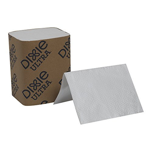 Dixie Ultra Interfold 2-Ply Napkin Dispenser Refill Formerly EasyNap, GP PRO, 32006, 6.5″ W x 9.9″ L, White Case of 24 Packs, 250 per Pack