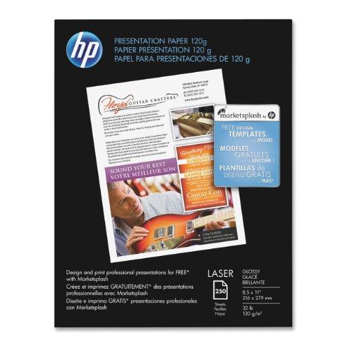 HP Premium Presentation 120g Laser Paper, Glossy, 8.5×11 250 Sht