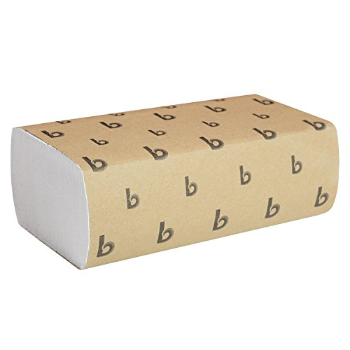 Boardwalk 6200 Multifold Paper Towels, White, 9 x 9 9/20, Pack of 250 Sheets Case of 16 Packs
