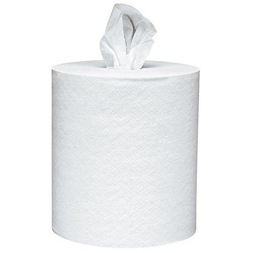 Scott 01032 Roll-Control Center-Pull Towels, 8 x 12, White, 700 Per Roll Case of 6 Rolls