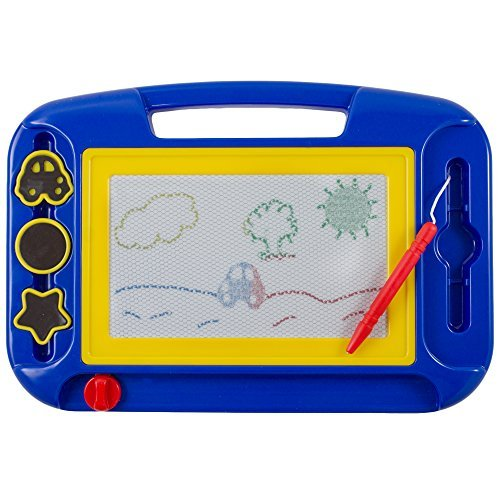 Kidsthrill Doodle Magnetic Drawing Board – Colorful Kids Writing Sketching Pad – Assorted Colors