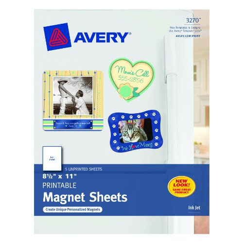 Avery Magnet Sheets, 8.5 x 11 Inches, White 03270