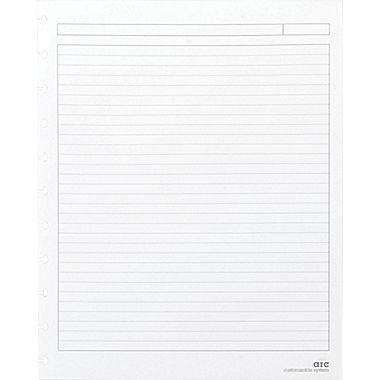 Staples? Arc Notebook Filler Paper, Letter-size, Narrow-Ruled, White, 8 1/2″ x 11″, 50 Sheets