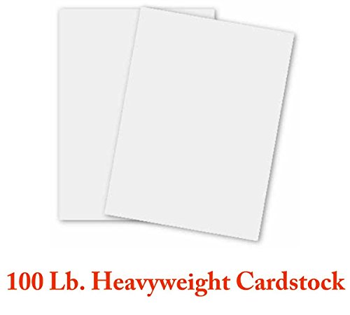 100lb Cover 270gsm – Extra Thick Card Stock – 100 Sheets Per Pack – Superfine's White Heavyweight – 8.5 x 11 Inches