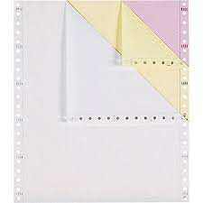 Alliance Premium Carbonless Computer Paper 9-1/2″ x 11″ Blank Left & Right Perforated 3-Part White/Canary/Pink 92 Bright 15lb 1200 Sets per Carton