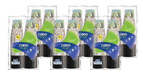 Dixie To Go Paper Cups and Lids, Pack of 6 – 156 count