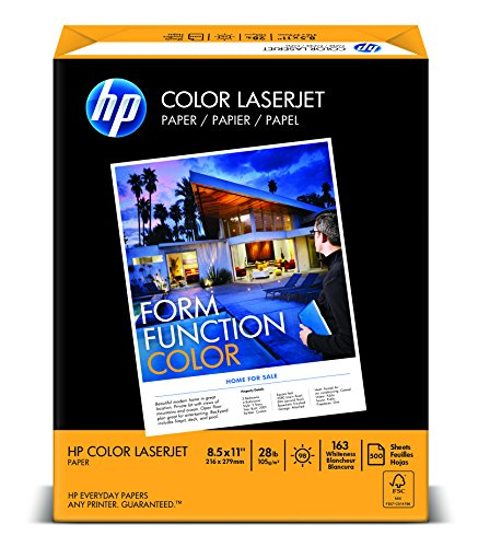 HP Paper, Color LaserJet Poly Wrap, 28lb, 8.5 x 11, Letter, 98 Bright, 500 Sheet / 1 Ream 205050R Made In The USA