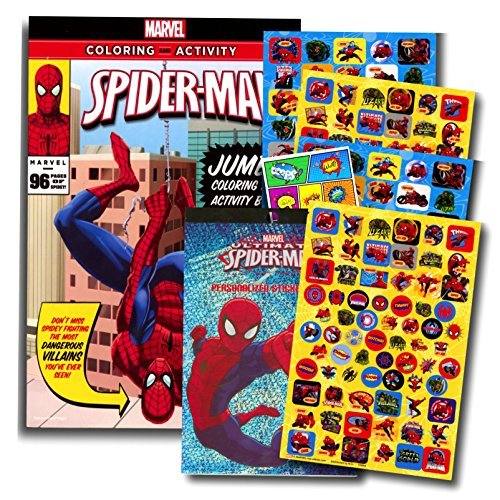 Marvel Spiderman Coloring Book with Over 270 Spiderman