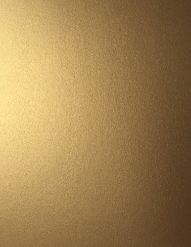 ANTIQUE GOLD Stardream Metallic Cardstock 8.5″ X 11″ 105 LB. Cover/284 gsm – 25 Sheets from Cardstock Warehouse
