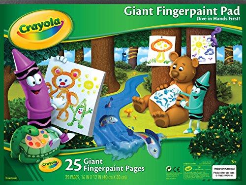 Crayola Giant Fingerpaint Paper, 25 Pages, 16″ x 12″ 99-3405