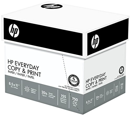HP Paper, Everyday Copy and Print Poly Wrap, 20lb, 8.5 x 11, Letter, 92 Bright, 3000 Sheets / 4 Bulk Ream Case 200030C Made In The USA