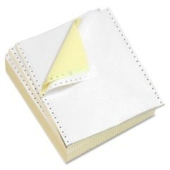 Alliance Premium Carbonless Computer Paper 9-1/2″ x 11″ Blank Left & Right Perforated 2-Part White/Canary 15lb 92 Bright 1700 Sheets per Carton