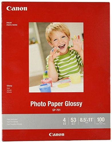 CanonInk Glossy Photo Paper 8.5″ x 11″ 100 Sheets 1433C004