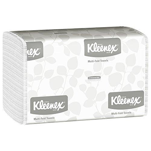 Kleenex 01890 Multi-Fold Paper Towels, 9 1/5 x 9 2/5, White, Pack of 150 Case of 16 Packs