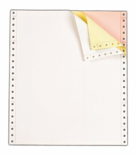 TOPS Continuous Computer Paper, 3-Part Carbonless, Removable 0.5 Inch Margins, 9.5 x 11 Inches, 1100 Sheets, White/Canary/Pink 55179