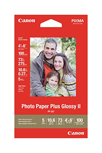 Canon Photo Paper Plus Glossy II, 4 x 6 Inches, 100 Sheets 2311B023