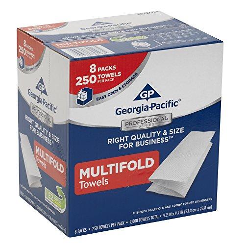 Georgia-Pacific 2212014 Multifold Paper Towels WxL 9.2″ x 9.4″ Case of 8 Packs, 250 Towels per Pack
