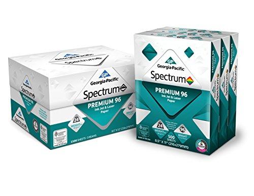 GP Spectrum Premium 96 Ink Jet & Laser Paper, 8.5 x 11 Inches, 3-Ream 1500 Sheets 998605