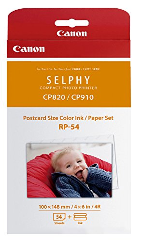 Canon RP-108 Color Ink/Paper Set, Compatible with SELPHY