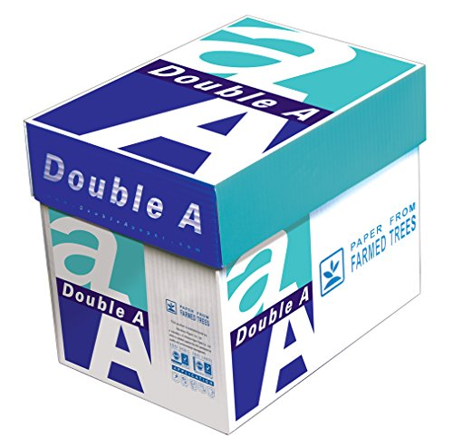 Double A 22 lb. Premium Paper, Letter Size, 5 Reams, 2500 Total Sheets  AA 22# 5RM CART