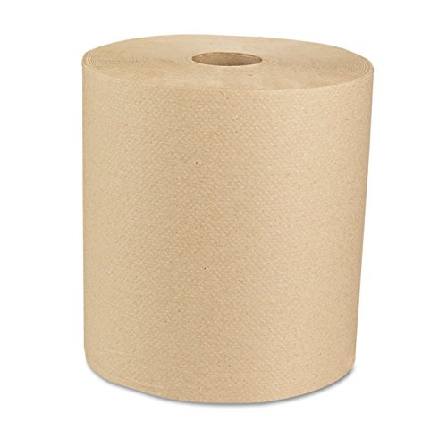 Boardwalk 16GREEN Green Seal Recycled Paper Towel Roll, Hardwound, Universal Roll Towels, Natural, 8″ x 800 ft Case of 6
