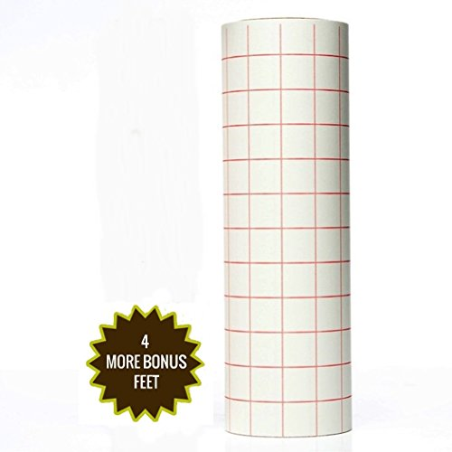 Best Crafts 12″ X 10′ Feet Roll Transfer Paper w/ Grid- Perfect Alignment of Cameo or Cricut Self Adhesive Vinyl for Decals, Signs, Walls, Windows and Other Smooth Surfaces
