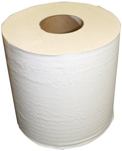 Berk Wiper CPRT-7200-ECONO Center-Pull Sanitary Paper 2-Ply Towel, 9″ Length x 7-1/2″ Width, White Case of 6 Rolls