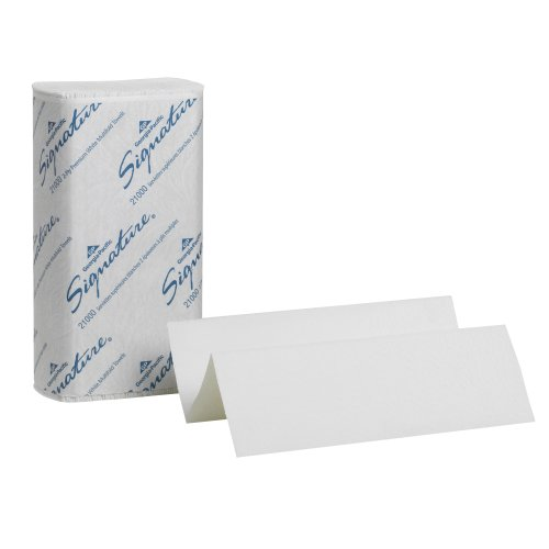 Georgia-Pacific 21000 Signature 2-Ply Premium Multifold Paper Towel, White, WxL 9.2″ x 9.4″ Case of 16 Packs, 125 Towels per Pack
