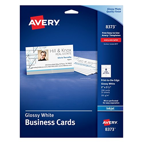 Avery Linen-Textured Two-Side Clean Edge Business Cards