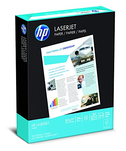 HP Paper, LaserJet Poly Wrap , 24Lb, 8.5 x 11, letter, 98 Bright, 500 Sheets / 1 Ream, 115300, Made In The USA