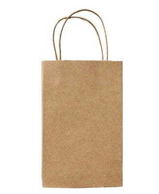 Halulu 100pcs 5.25×3.75×8 Brown Kraft Paper Retail Shopping Bags with Rope Handles