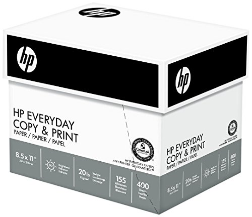 HP Paper, Everyday Copy and Print Poly Wrap, 20lb,  8.5 x 11, Letter, 92 Bright, 2400 Sheets / 6 Ream Case 200010C Made In The USA