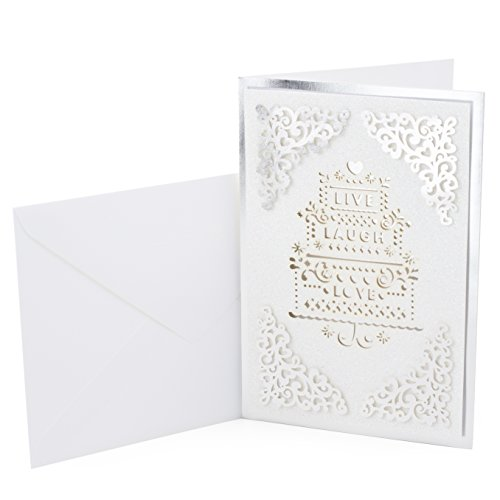 Hallmark Signature Wedding Greeting Card Live Laugh Love