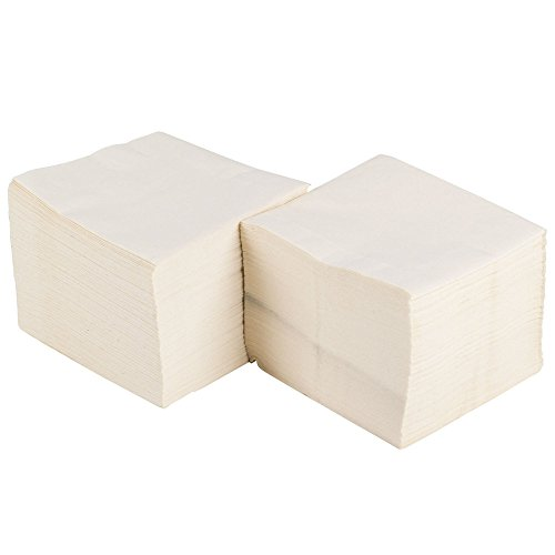 Perfectware Cocktail Napkins-500ct Cocktail Drink Napkins, White Pack of 500