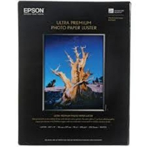 Packaging May Vary – Epson Ultra Premium Photo Paper LUSTER 8.5×11 Inches, 50 Sheets S041405
