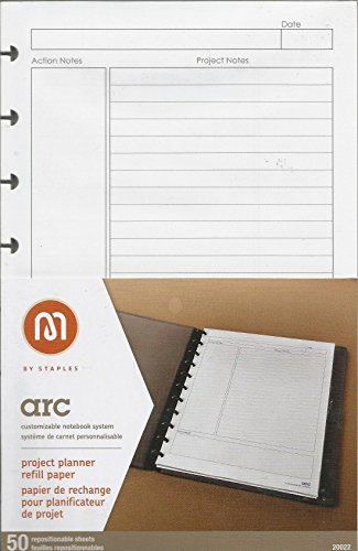staples arc notebook project planner filler paper junior sized