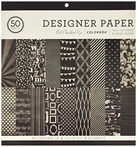 ColorBok 71866A Designer Paper Pad All Chalked Up, 12″ x 12″