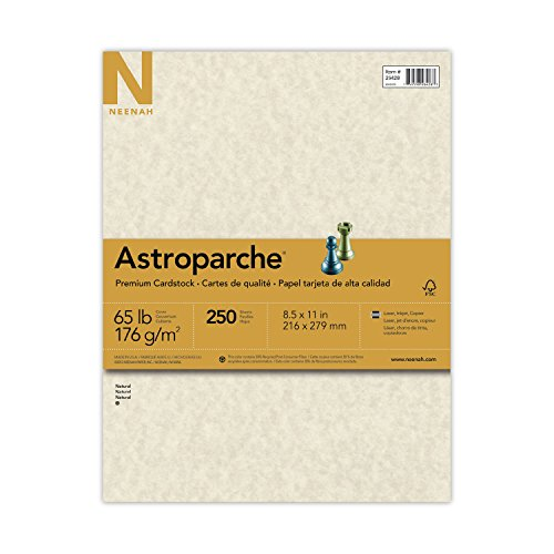 Neenah Astroparche Cover Stock, 8 1/2 x 11 Inch, Natural, 250 Sheets 26428