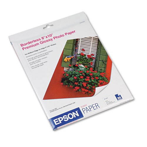 Epson Premium Photo Paper GLOSSY 8×10 Inches, 20 Sheets S041465