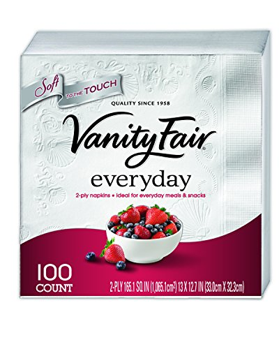 Vanity Fair Everyday Napkins, White – 100 ct