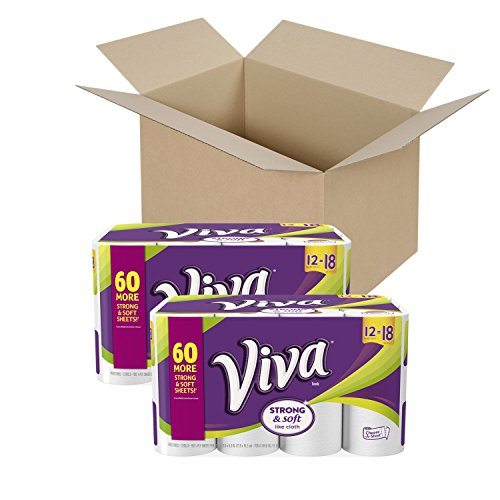 VIVA Choose-A-Sheet* Paper Towels, White, Giant Roll, 24 Rolls