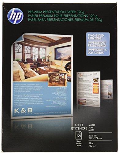 HP Premium Presentation Paper Matte, Inkjet, 8.5×11, 100 sheets