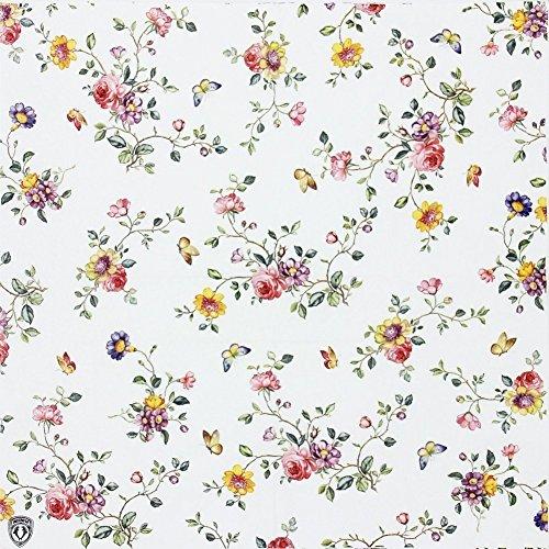 Floral Paper Napkins, Alink Spring Flower Design Vintage Luncheo Bandana Napkins Serviettes, 20 Count for Wedding, Dinner Tea Party