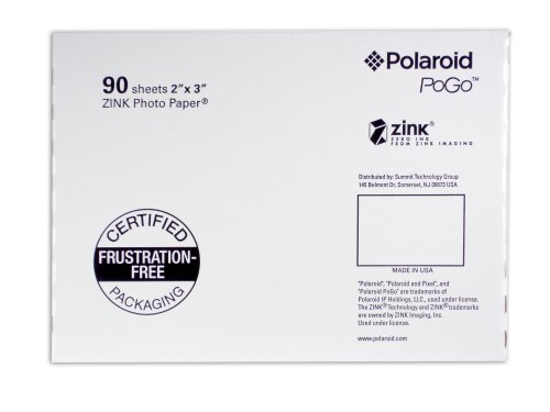 Polaroid AZA-09011F Pogo 90 Pack ZINK Photo Paper