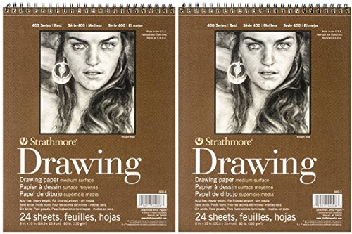 Strathmore 400 Drawing Pad 8×10 2-Pack