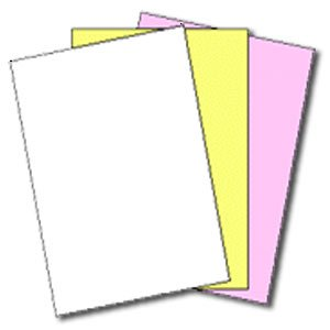 167 Sets of 3 Part NCR® Paper 5909 — Straight Collated, Letter Size Carbonless Paper