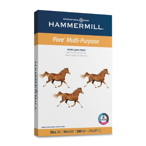 Hammermill Paper, Fore MP, 20lb, 11 x 17, Ledger, 96 Bright, 500 Sheets / 1 Ream 103192R, Made In The USA