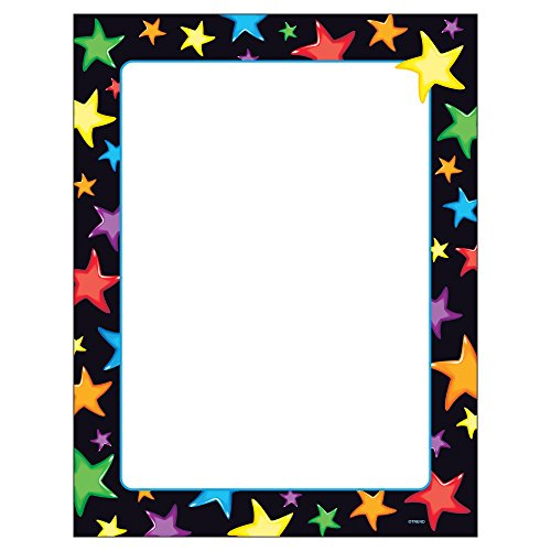 Trend Enterprises Gel Stars Terrific Papers, 50 Sheets per Package, 8 1/2″ x 11″