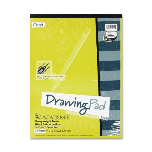 Mead Académie Drawing Pad, 24 Sheets, 9 x 12 Inch Sheet Size 54050